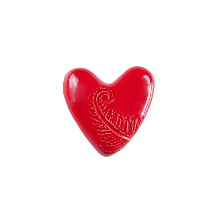 SHN1 Koru Heart  Heart Tile Single in Red Gloss