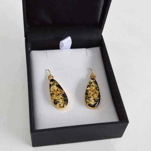 Gold Flake Earrings Boxed EBJ7102E
