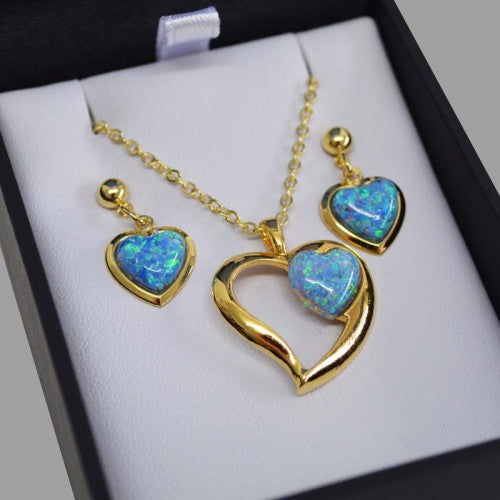 EBJ9188S Aurora Opal Set Gold Boxed
