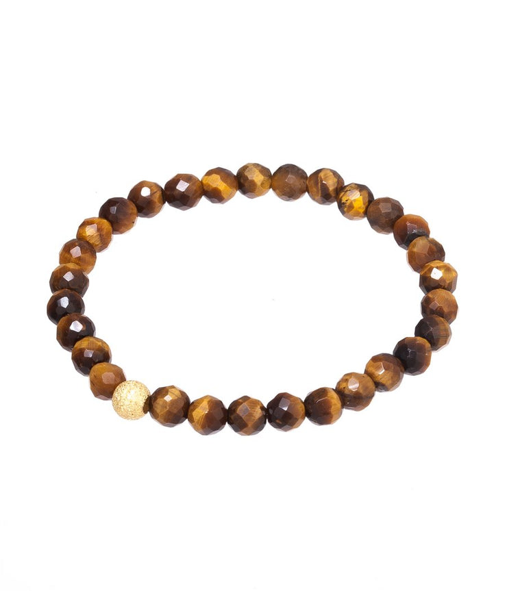 Tigers eye gemstone elasticised bracelet