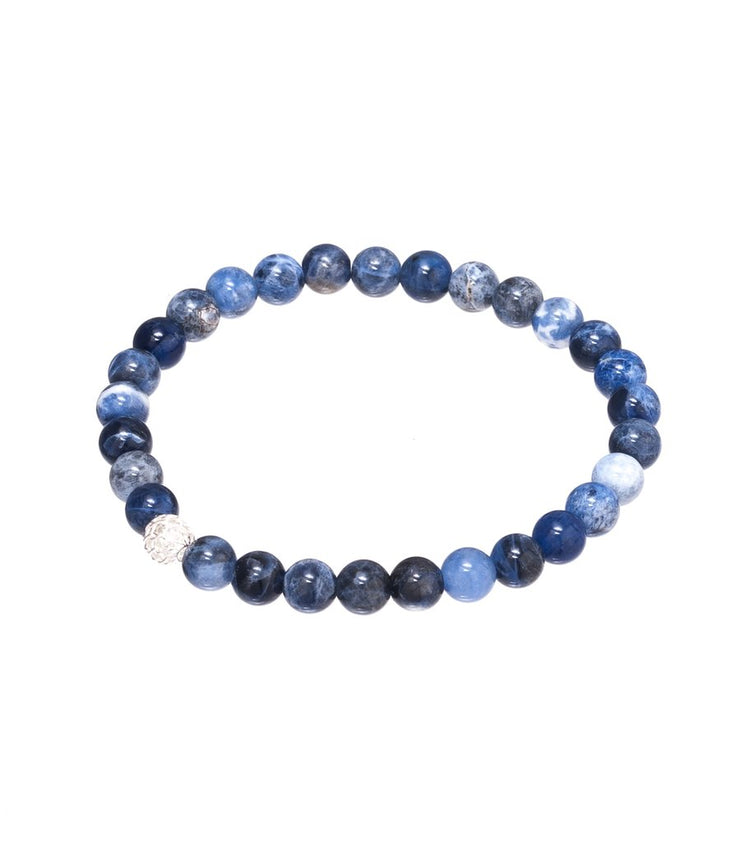 Sodalite Gemstone Elasticised bracelet
