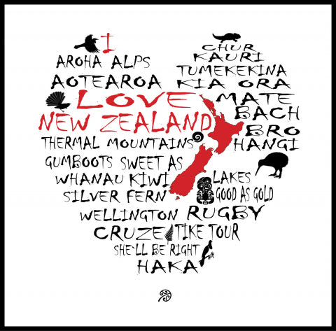 I Love New Zealand NZT70H
