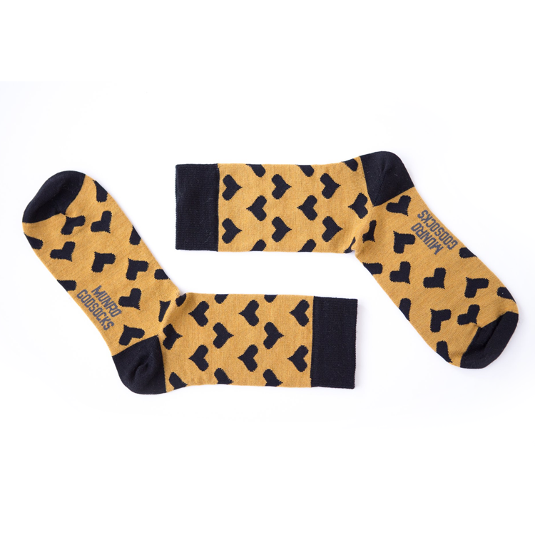 Paris Black Heart God Socks