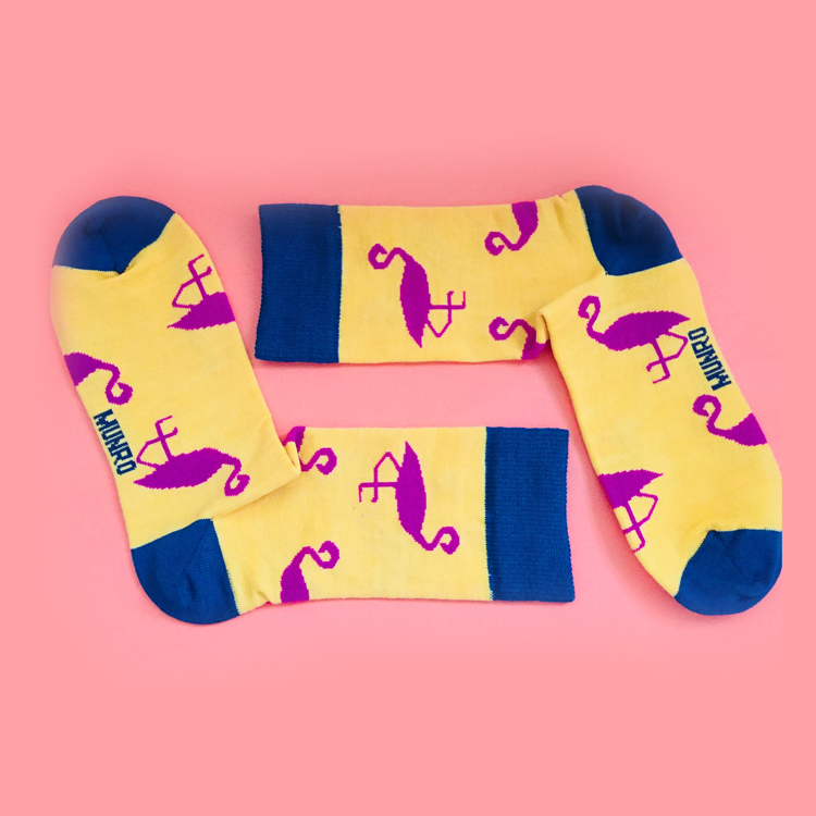Pink Flamingo God Socks