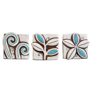 Mini Vibrant Set of 3 Turquoise/Natural MVB3