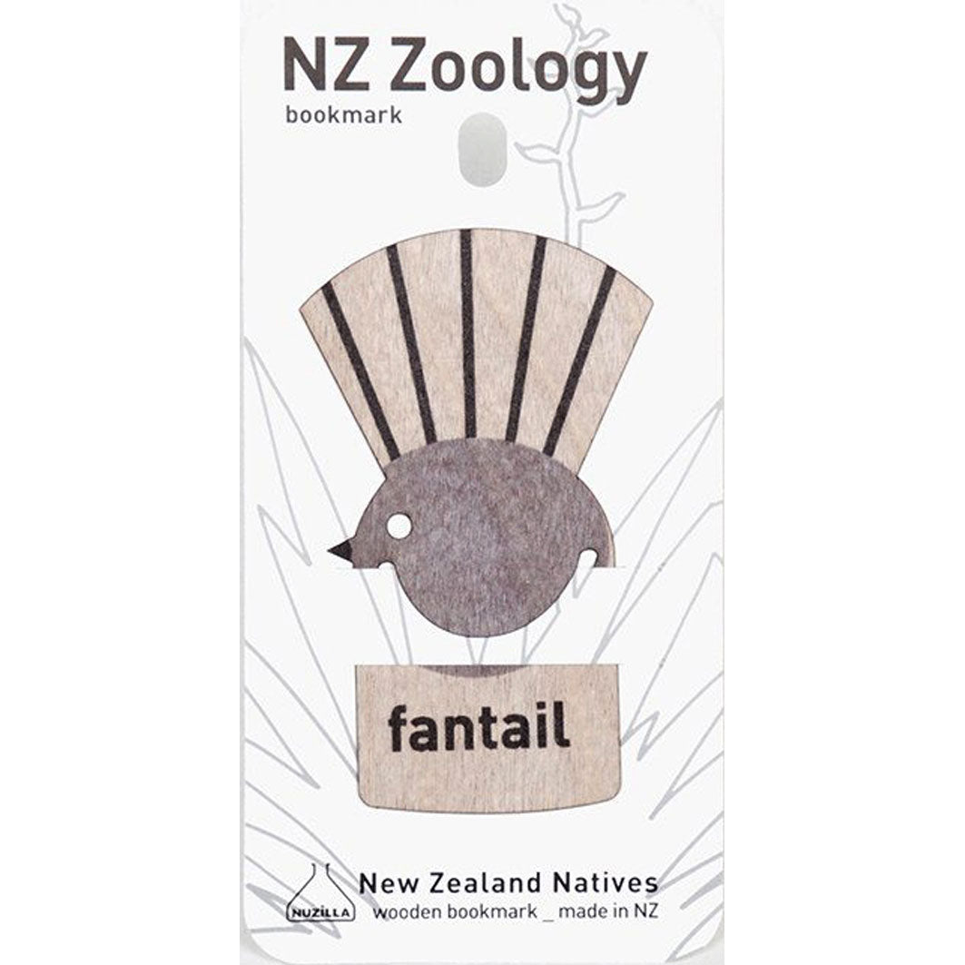 WPBMF Wood Print Bookmark Fantail