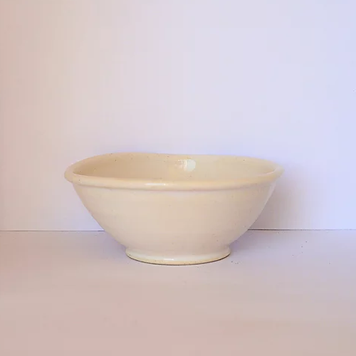 Handmade Pottery Mask Mixing Bowl
