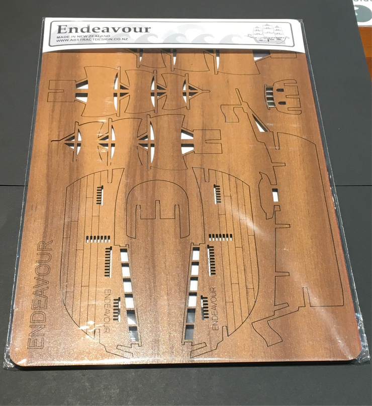 Endeavour Ship Wooden Flat Pack
