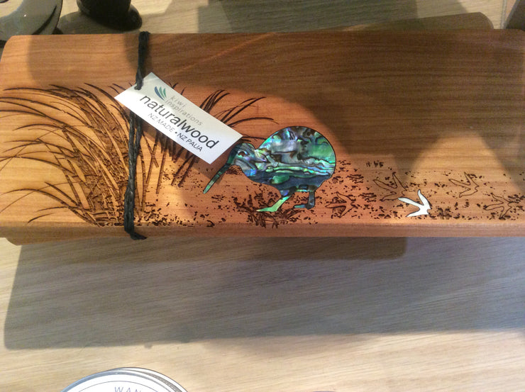 Naturalwood Board with Paua