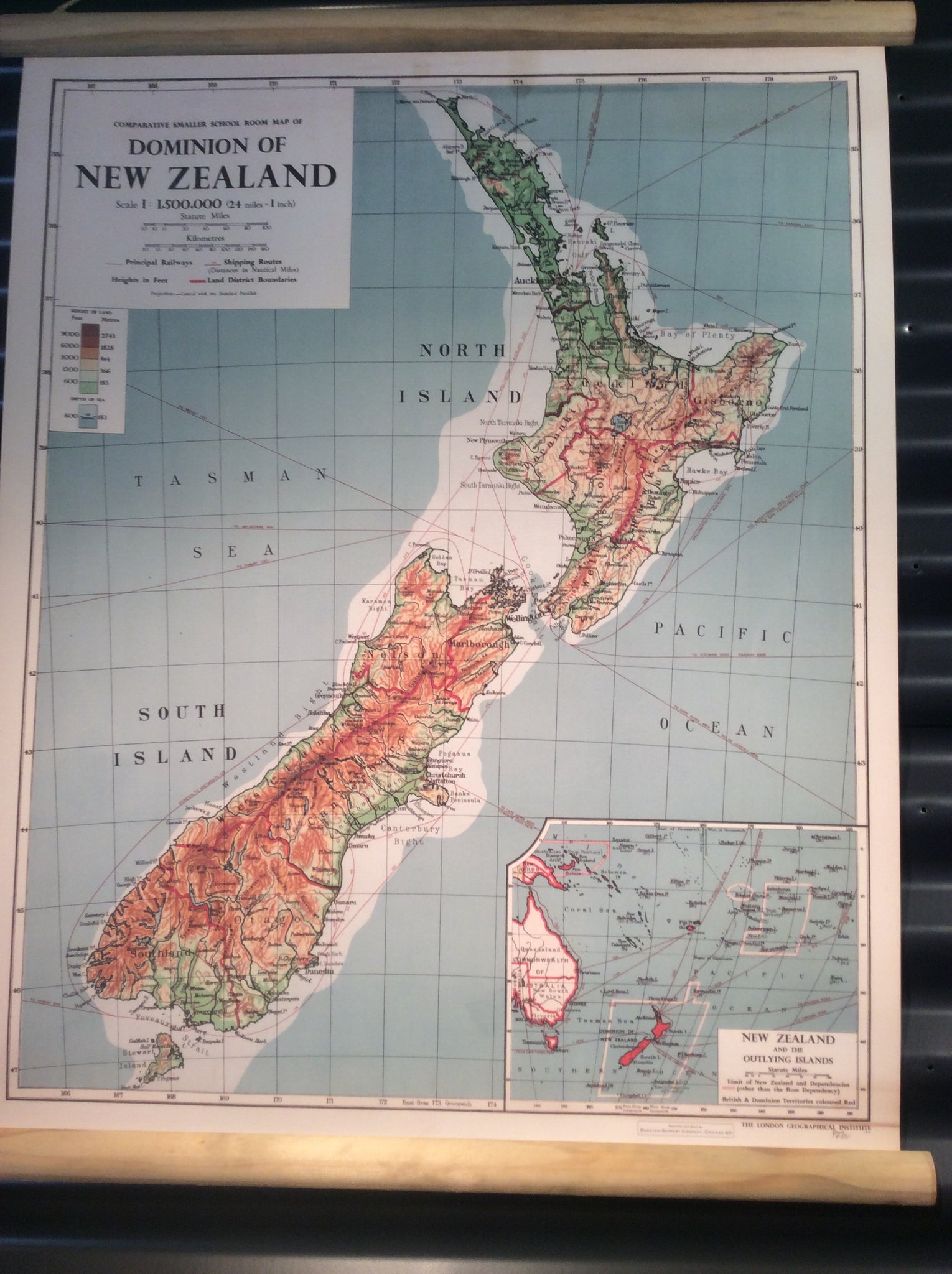 Nz Dominion Map-600mm