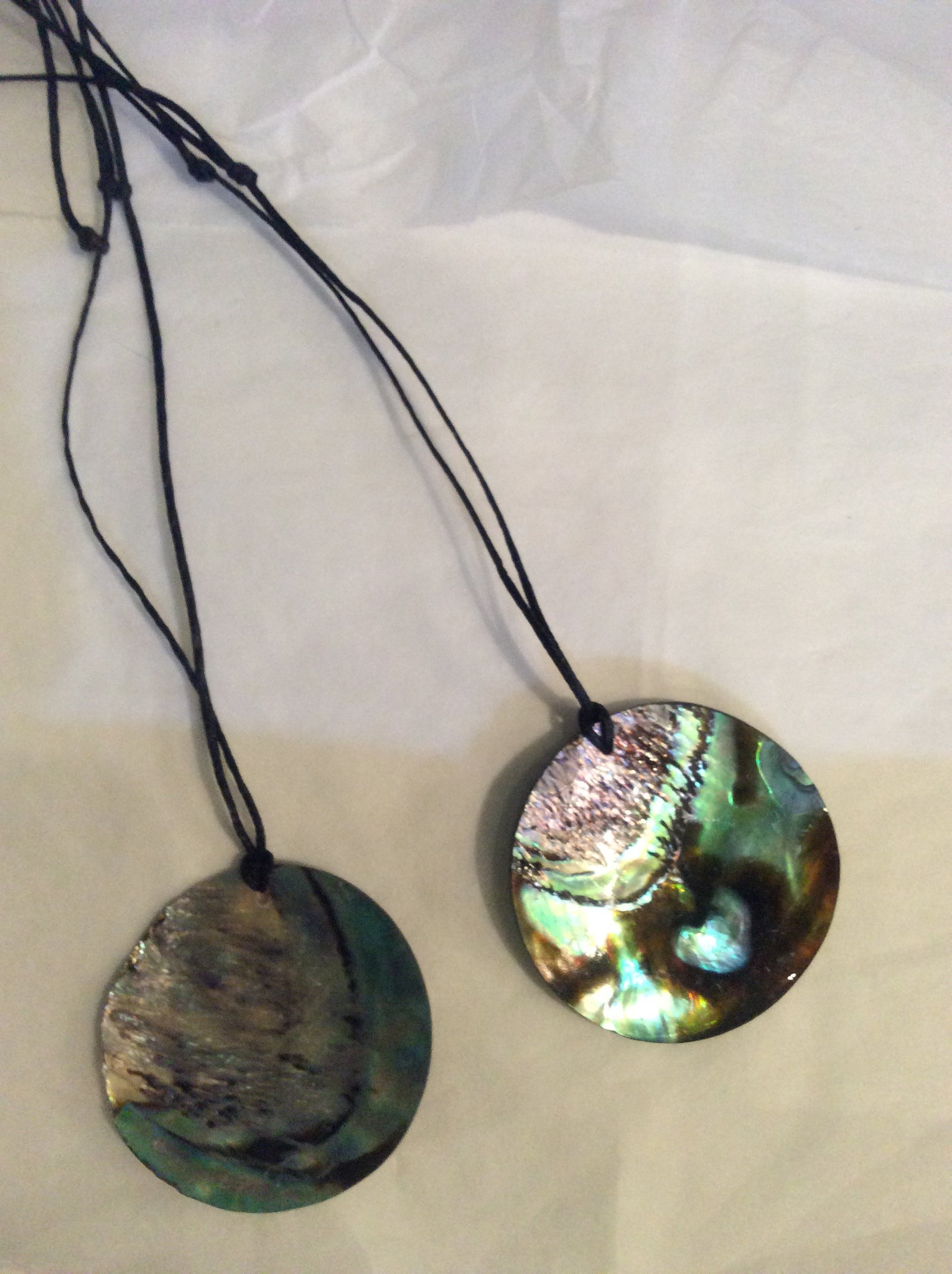 Paua pendant 60mm Disc -P11