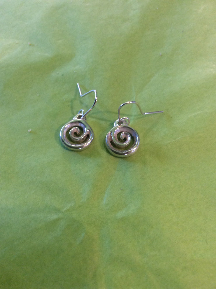 Koru Drop Earring - Silver
