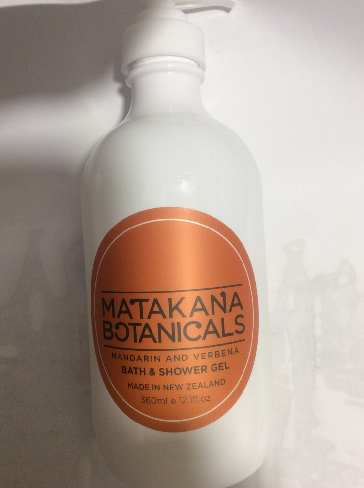 Matakana botanicals Mandarin and Verbena Bath and Shower Gel 360ml