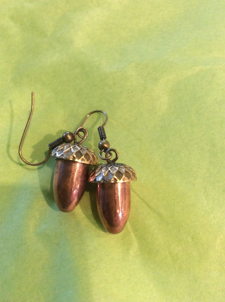 Copperhead Acorn Earrings - Gold