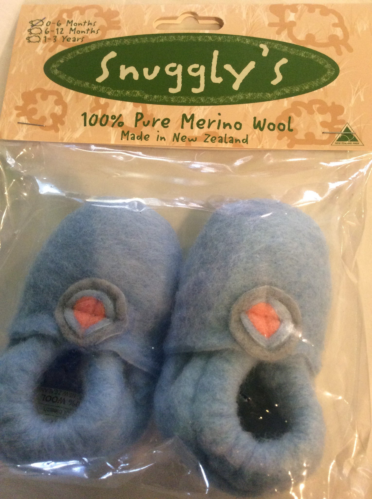Snuggly's booties - Buttons Blue