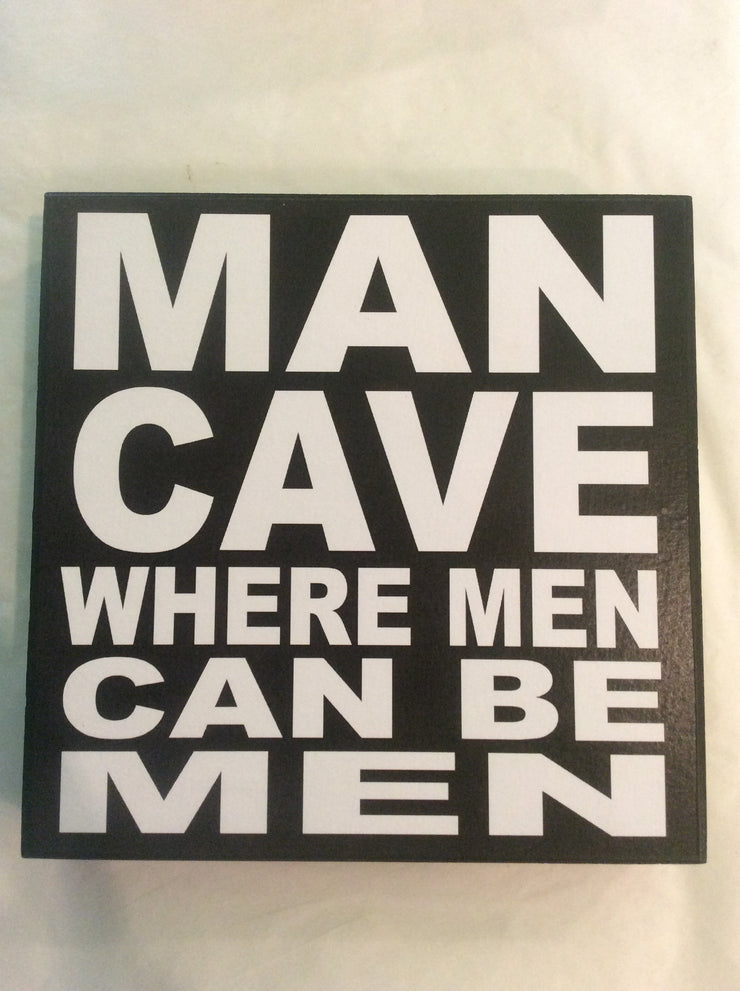 Man Cave Where...-Block Art (various)