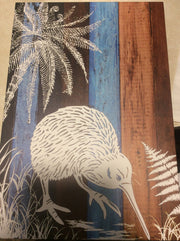 Kiwi in Nature (on wood canvas)