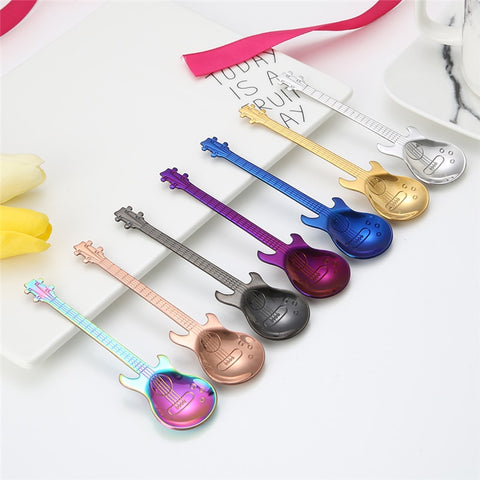 FREE + Shipping Guitar Coffee Stir spoons  #freeplusshipping