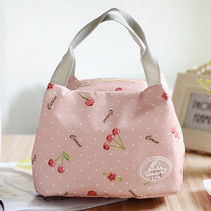 Portable Insulated Canvas Thermal Foo lunch Bag