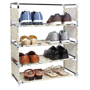 Multi-Purpose Steel and Fabric Shoe Rack