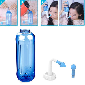 Nose Wash System Pot Sinus & Allergies Relief Rinse Bottle 500 ML
