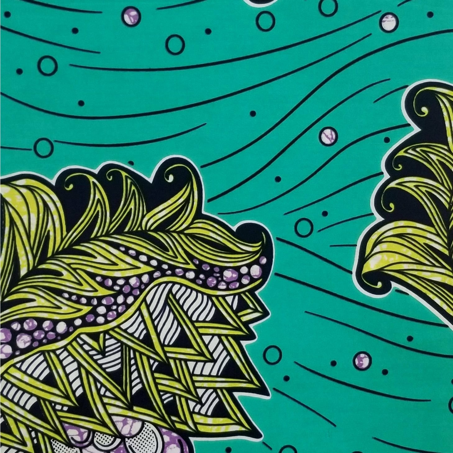 Crowns & Seashells Ankara Fabric