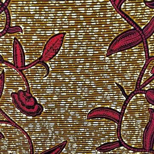 Pink Vines Ankara Fabric