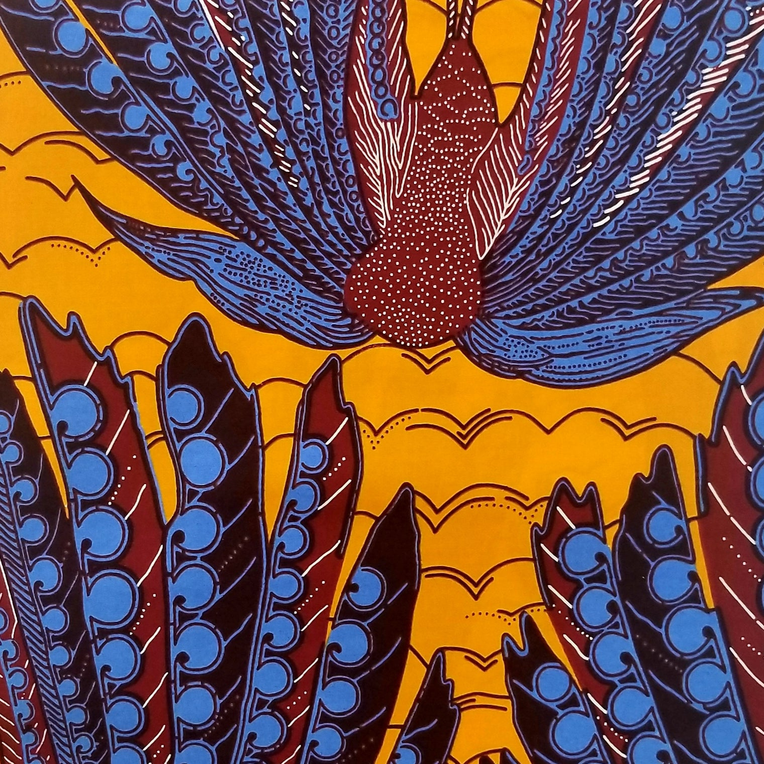 Thunderbird Ankara Fabric
