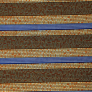 Brown Stripes Ankara Fabric