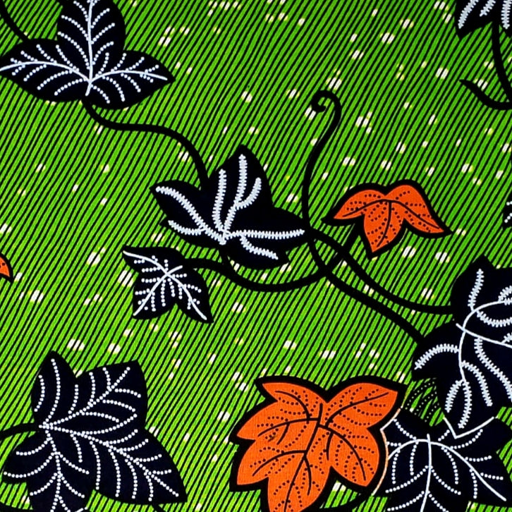 Green Fall Ankara Fabric