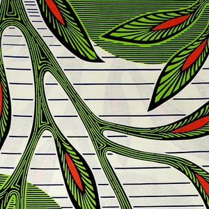 Green Vines Ankara Fabric