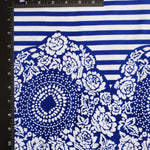 Cobalt Blue Stripes Ankara Fabric