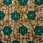 Teal Daisy Ankara Fabric