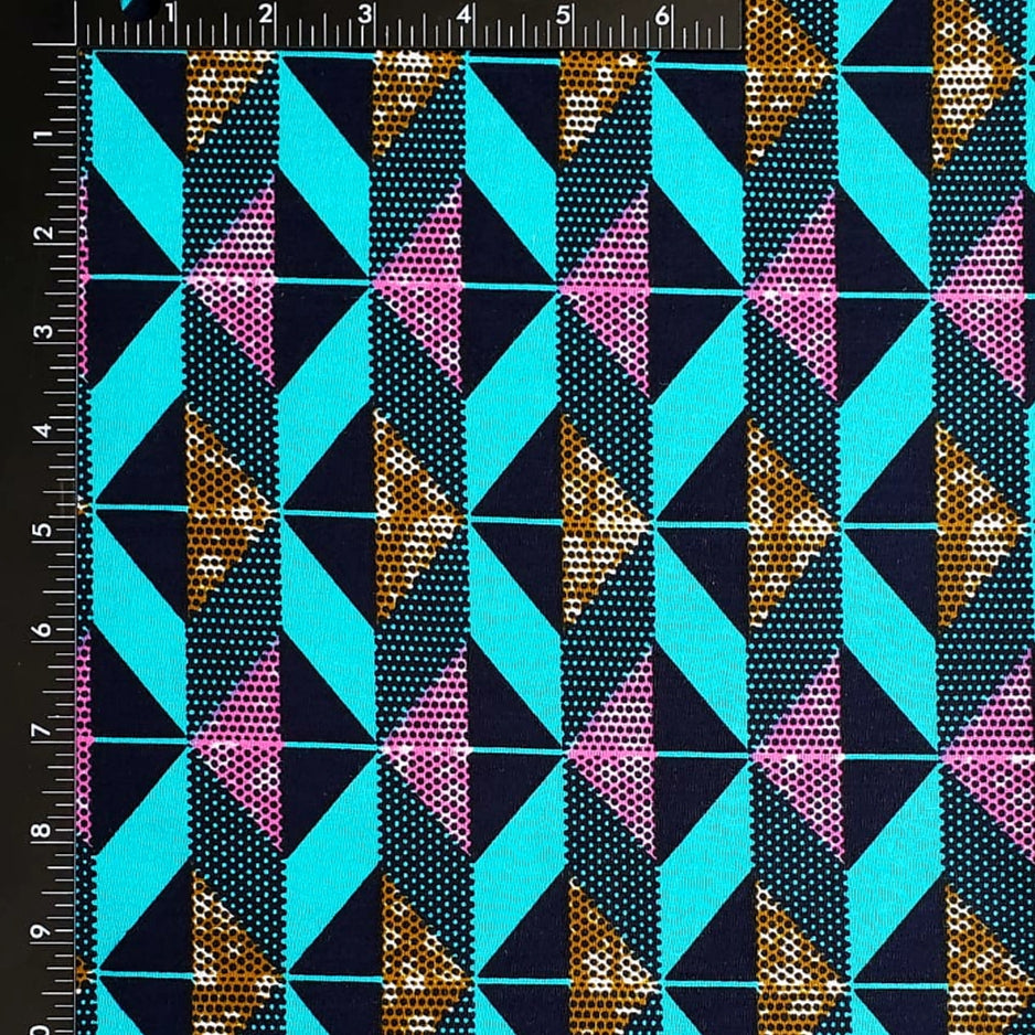 Teal Ribbon Ankara Fabric