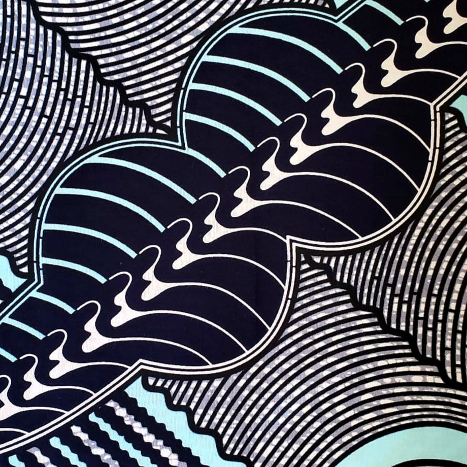 Shades of Blue Ankara Fabric