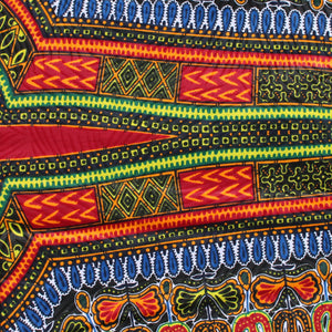 Black Angelina Dashiki Fabric