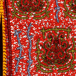 Red Designs Ankara Fabric