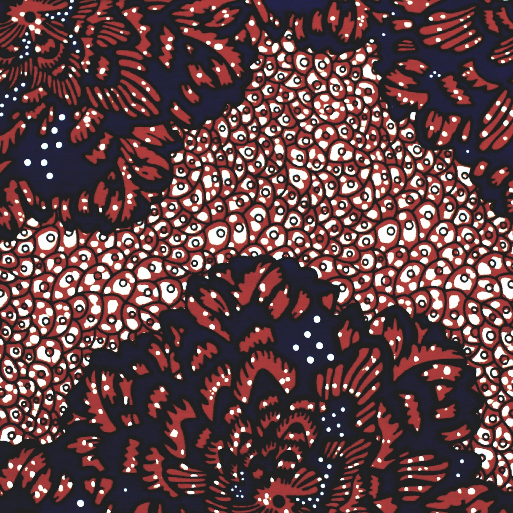 Blowing Burgundy Flowers Ankara Fabric