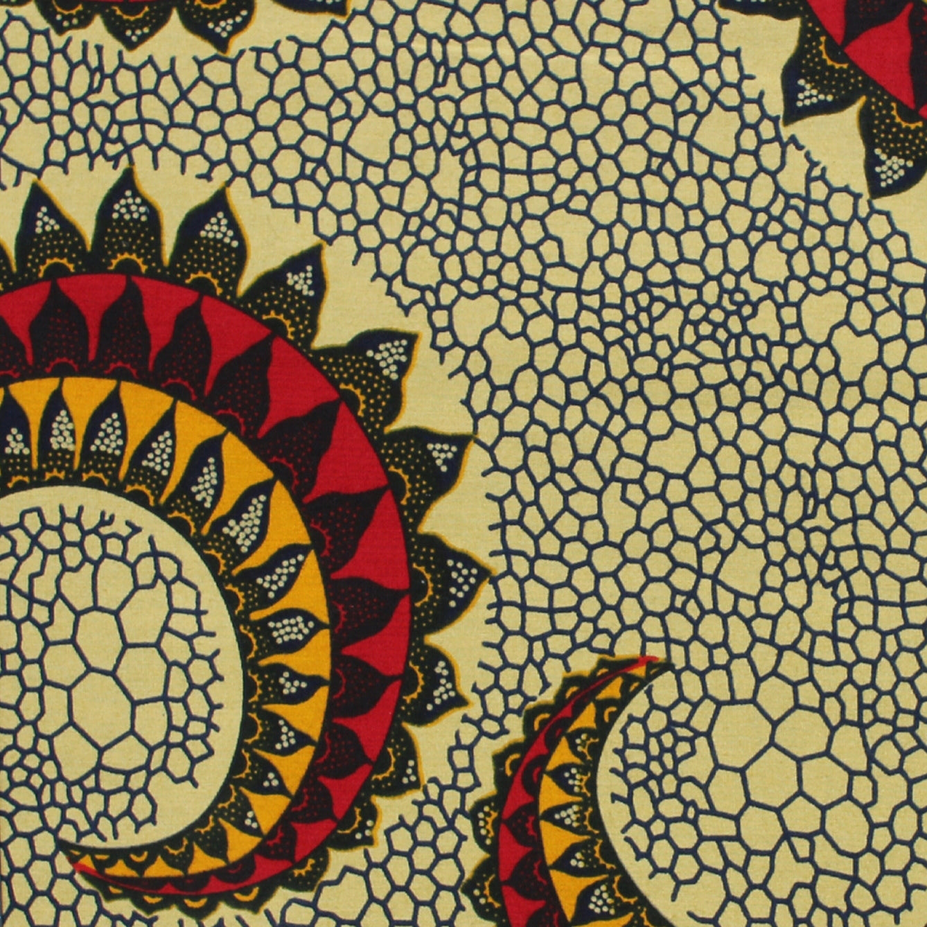 Natural Tentacle Ankara Fabric