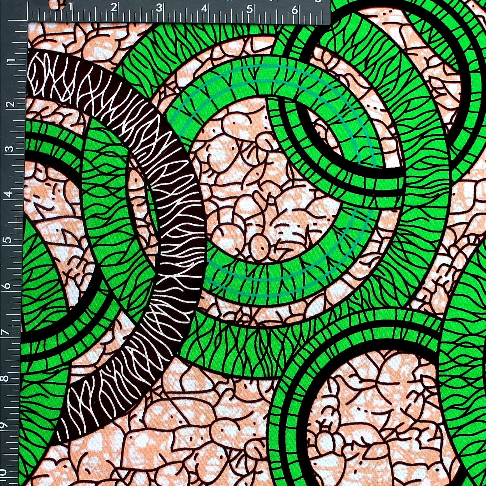Green Ring Ankara Fabric