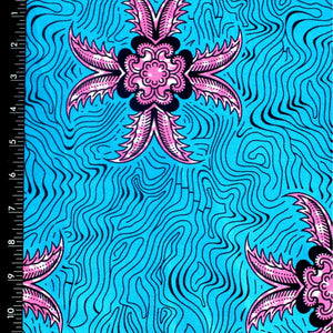 Underwater Flowers Ankara Fabric