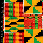 Kente Cloth Ankara Fabric