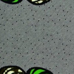 Stiletto Green & Black Nails Ankara Fabric
