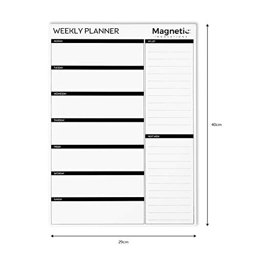 photo regarding Weekly Family Planner called Magnetic Developments Huge A3 Dry Wipe Magnetic Whiteboard, Preferred as a Weekly Relatives Planner Supper Planner Memo Board Calendar Research Planner