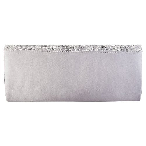 87f9f04e24 Womens Satin Ladies Floral Lace Small Bridal Party Evening Clutch Bag  Handbag