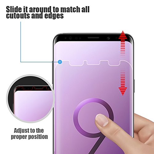 Alinsea Galaxy S9 Screen Protector [2-Pack] [NOT for S9+] [Bubble Free]  [Case-Friendly] [Wet Applied] Plastic Film [NOT Glass] [No Lifting on  Edges]