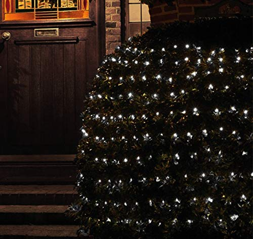 Christmas Fairy Lights 3m X 2m 320 Led Net Fairy Lights Bright Cool White Indoor Outdoor Christmas Tree String Lights Multifunction Memory Timer Mains