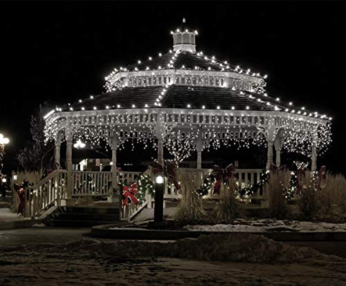 Icicle Lights 500 Led 17 5m Bright Cool White Outdoor Christmas Lights Indoor String Fairy Lights Timer Memory Mains Powered 57ft Lit Length 10m 32ft