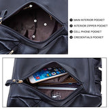 15735c3e7e BOYATU Leather Backpack for Ladies Large Travel Bag Womens Anti-theft  Shoulder Daypack