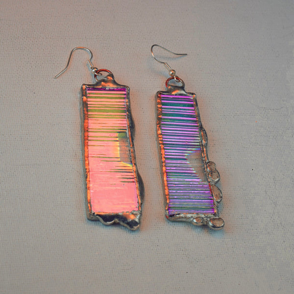Iridescent Drop Dangles